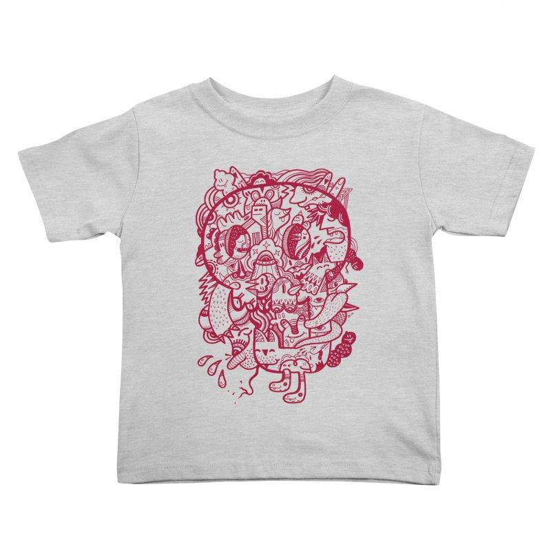 Skull Ochre Kids Toddler T-Shirt by uberkraaft's Artist Shop