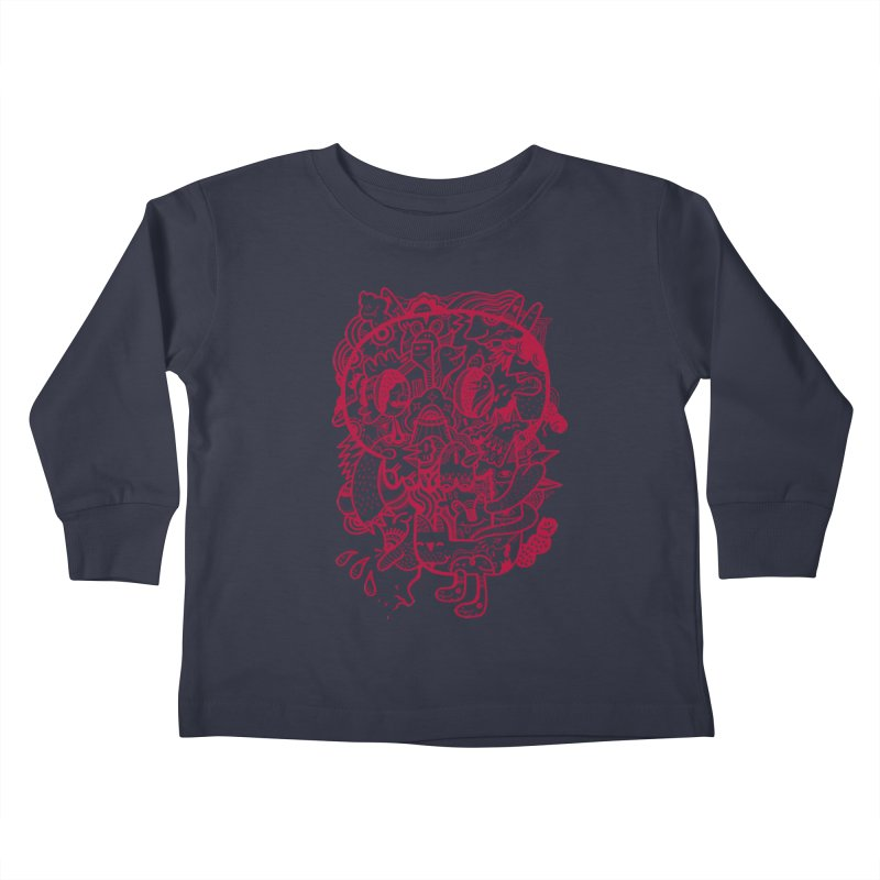 Skull Ochre Kids Toddler Longsleeve T-Shirt by uberkraaft's Artist Shop