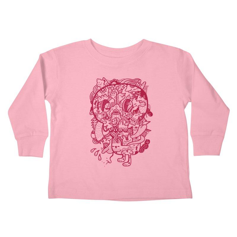Skull Ochre Kids Toddler Longsleeve T-Shirt by uberkraaft's Artist Shop