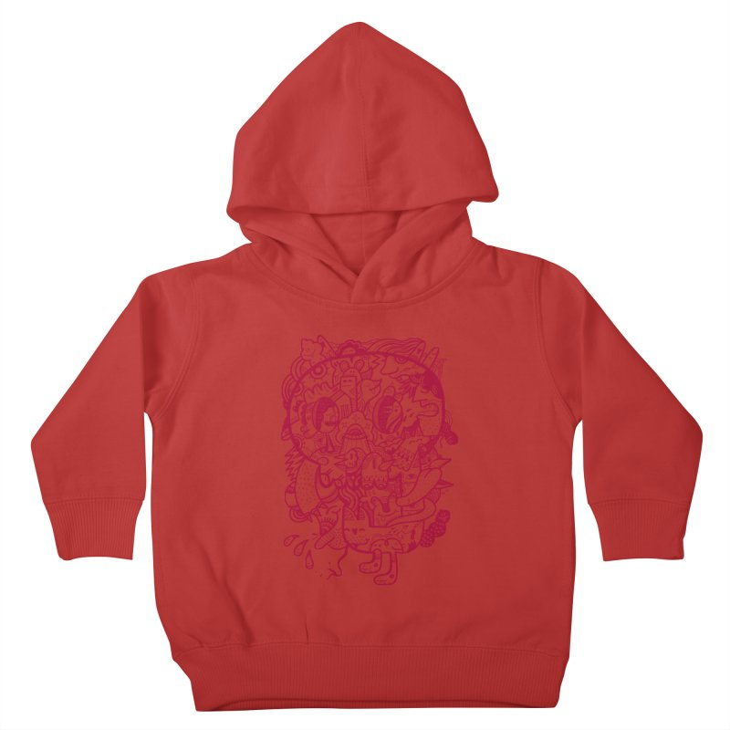 Skull Ochre Kids Toddler Pullover Hoody by uberkraaft's Artist Shop