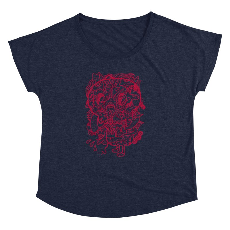Skull Ochre Women's Dolman by uberkraaft's Artist Shop