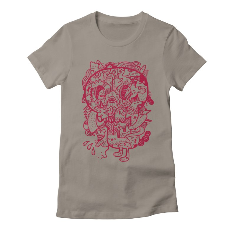 Skull Ochre Women's Fitted T-Shirt by uberkraaft's Artist Shop