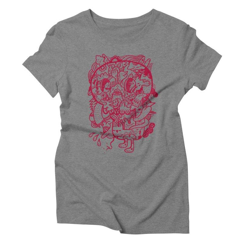 Skull Ochre Women's Triblend T-Shirt by uberkraaft's Artist Shop