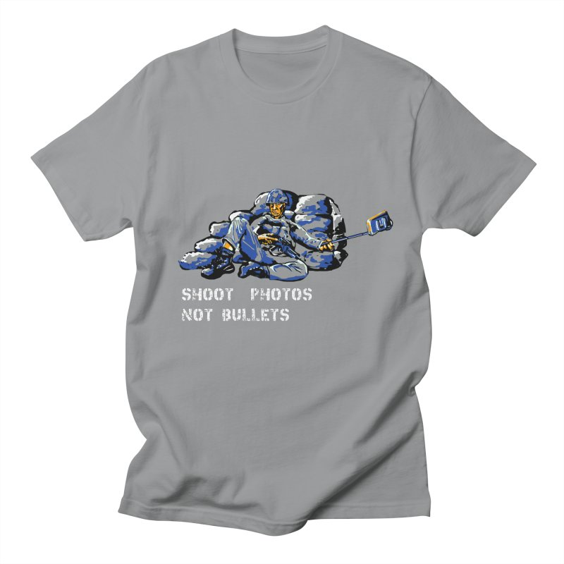 Shoot photos not bullets Men's T-Shirt by U-Bot Shop