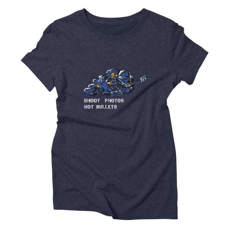 Shoot photos not bullets Women's Triblend T-shirt by U-Bot Shop