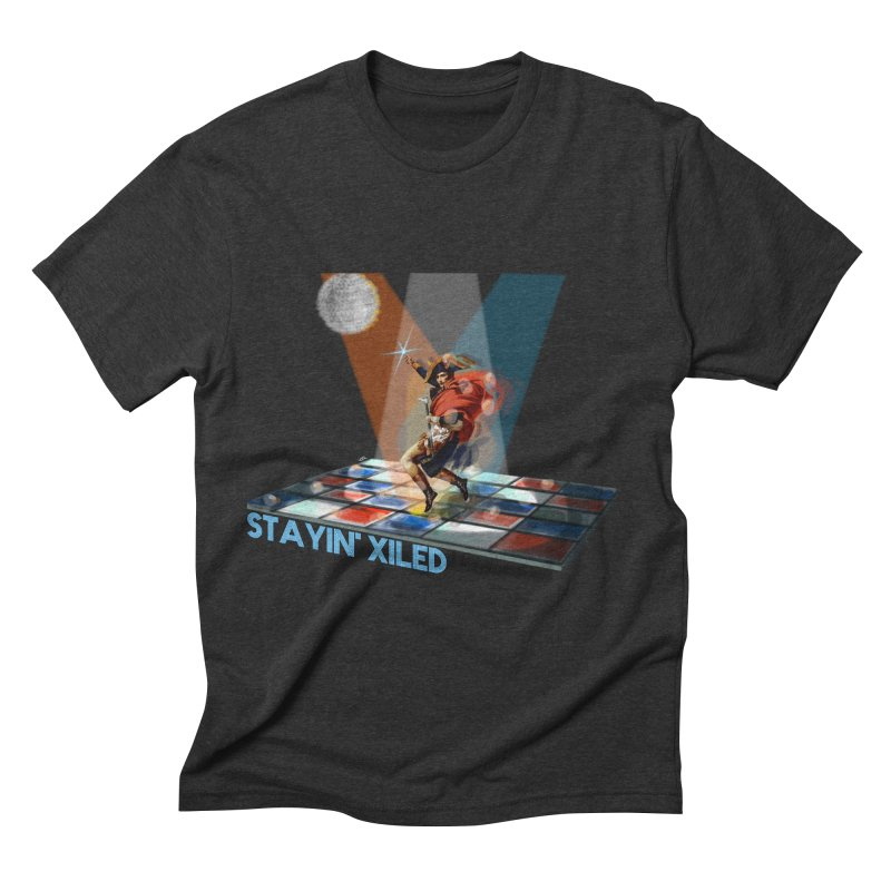 Staying Xiled in Men's Triblend T-shirt Heather Onyx by U-Bot Shop