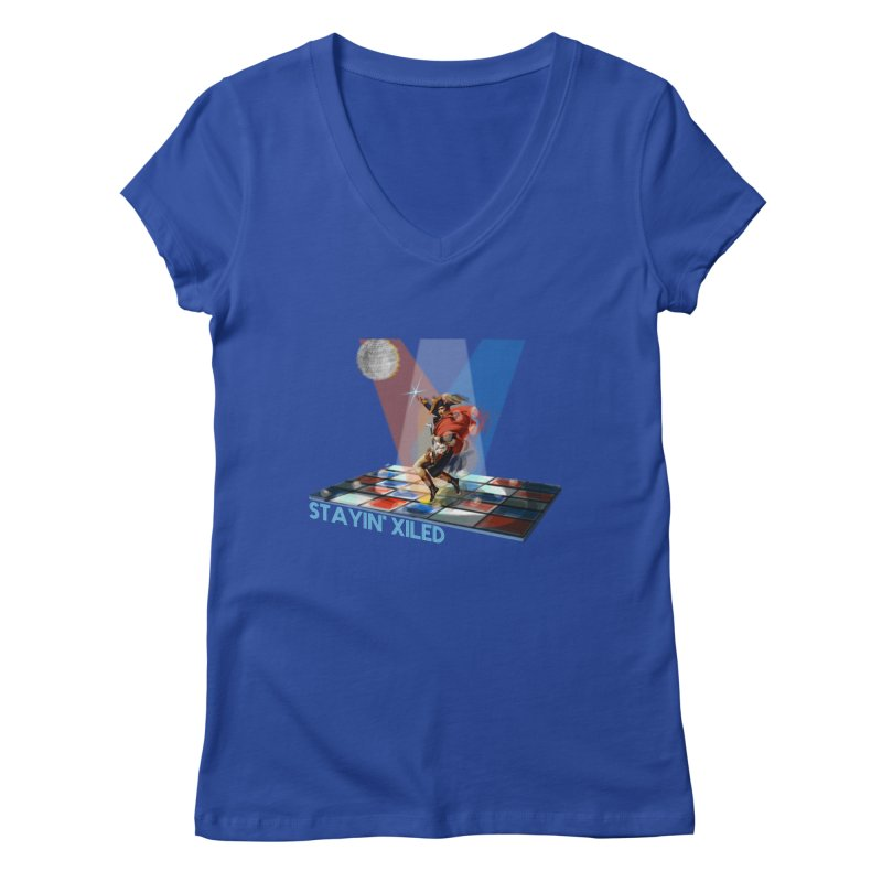 Staying Xiled Women's V-Neck by U-Bot Shop