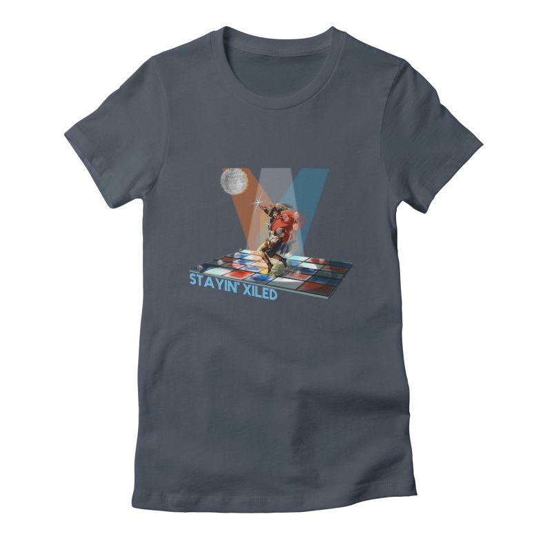 Staying Xiled Women's Fitted T-Shirt by U-Bot Shop