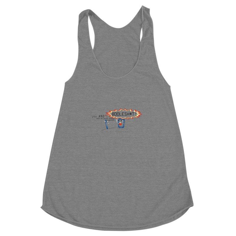 BooleS**T! Women's Racerback Triblend Tank by U-Bot Shop