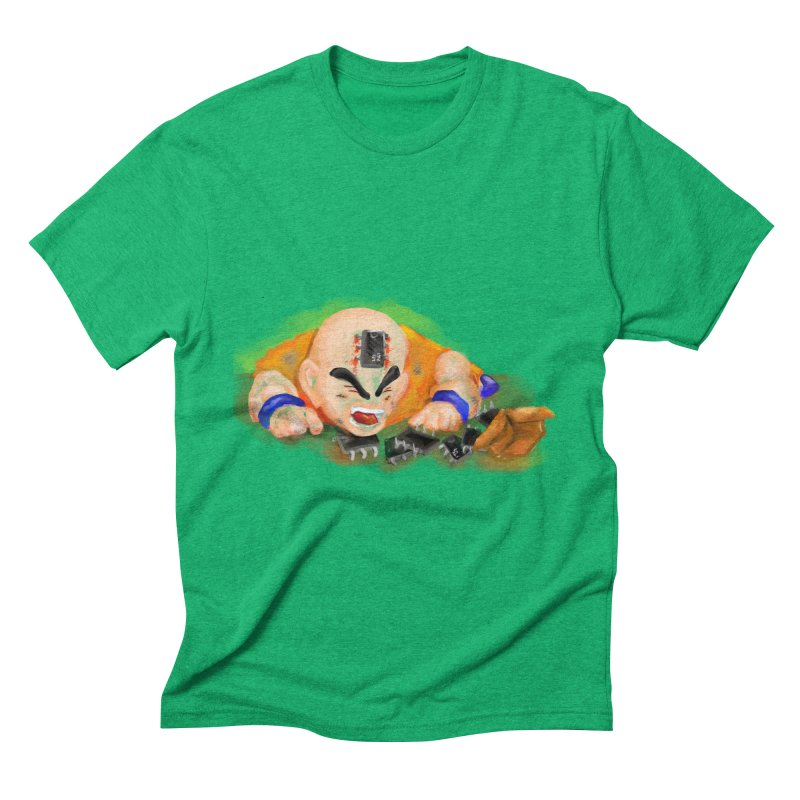 Making of Krillin Men's Triblend T-Shirt by U-Bot Shop