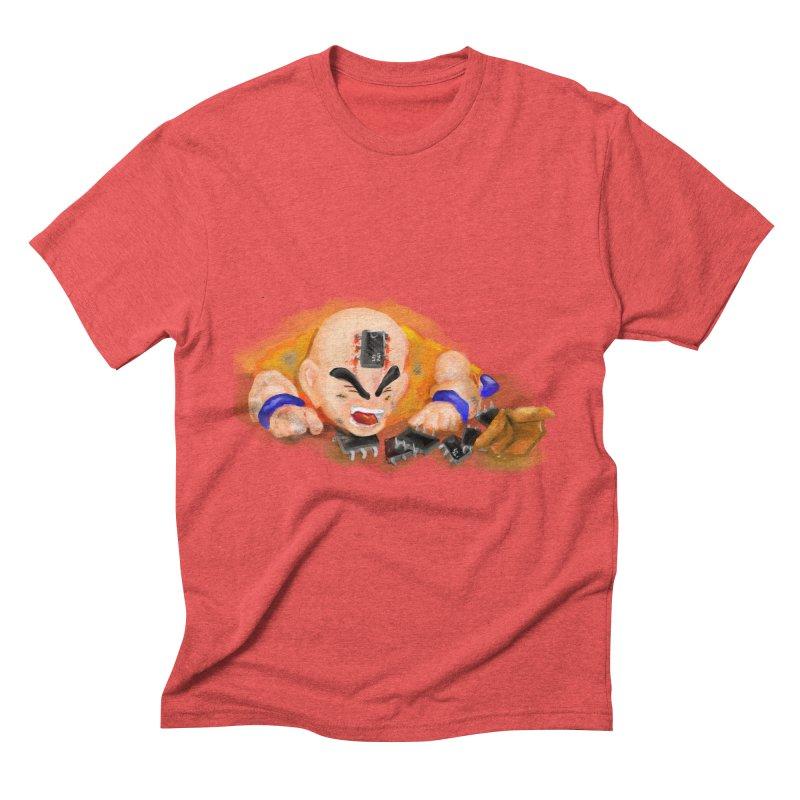 Making of Krillin Men's Triblend T-Shirt by U-Bot Shop