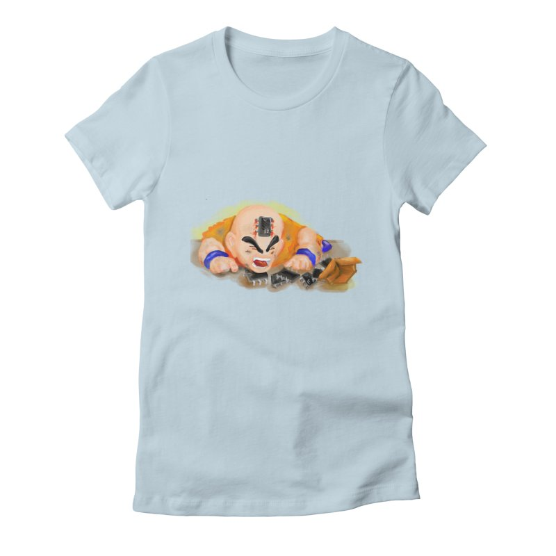 Making of Krillin Women's Fitted T-Shirt by U-Bot Shop
