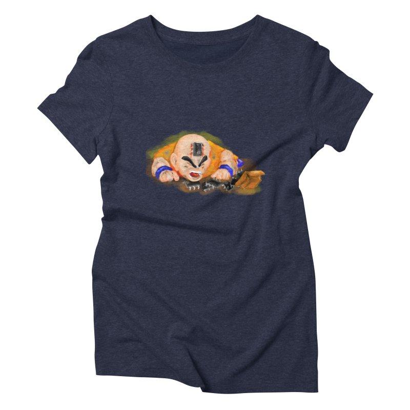Making of Krillin Women's Triblend T-Shirt by U-Bot Shop