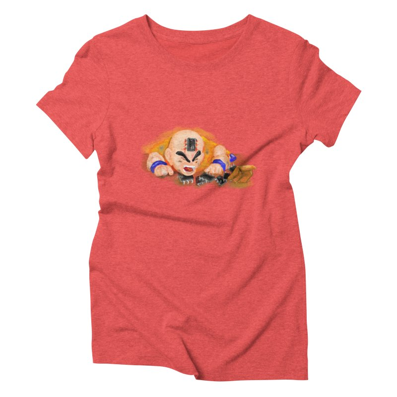 Making of Krillin Women's Triblend T-Shirt by U-Bot Shop