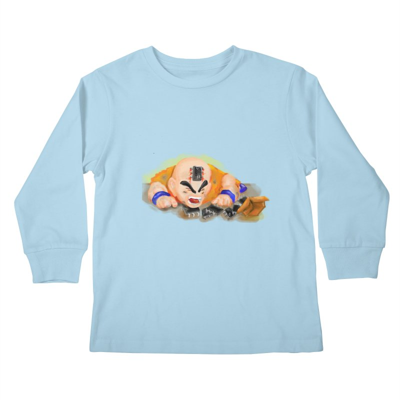 Making of Krillin Kids Longsleeve T-Shirt by U-Bot Shop