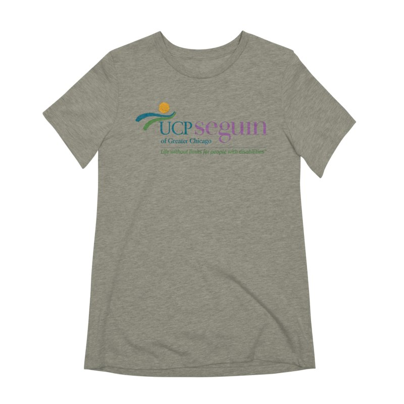 Apparel w/ Color Logo - Full Chest Women's Extra Soft T-Shirt by UCP Seguin Swag Shop