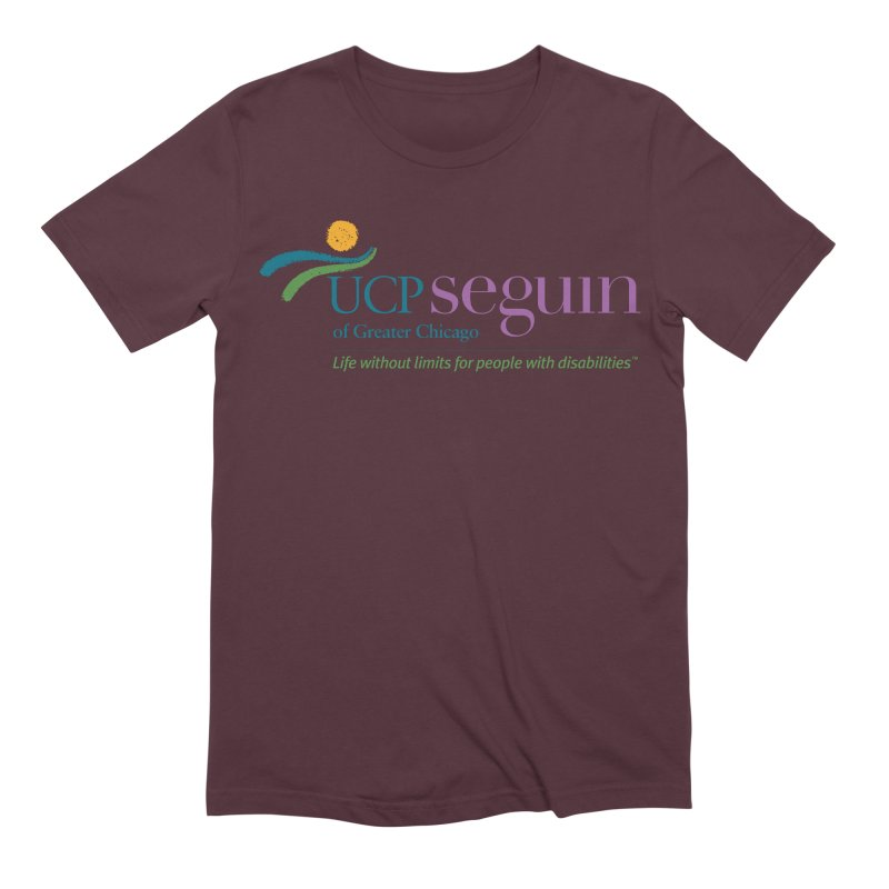 Apparel w/ Color Logo - Full Chest Men's Extra Soft T-Shirt by UCP Seguin Swag Shop