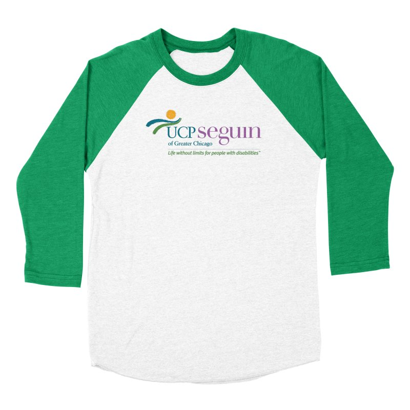 Apparel w/ Color Logo - Full Chest in Men's Baseball Triblend Longsleeve T-Shirt Tri-Kelly Sleeves by UCP Seguin Swag Shop