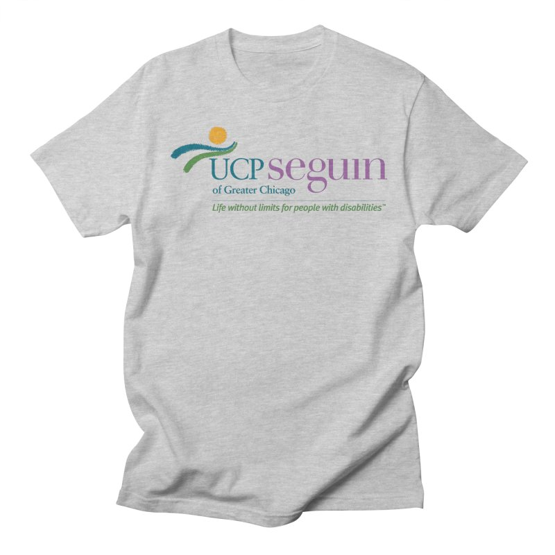 Apparel w/ Color Logo - Full Chest in Men's Regular T-Shirt Heather Grey by UCP Seguin Swag Shop