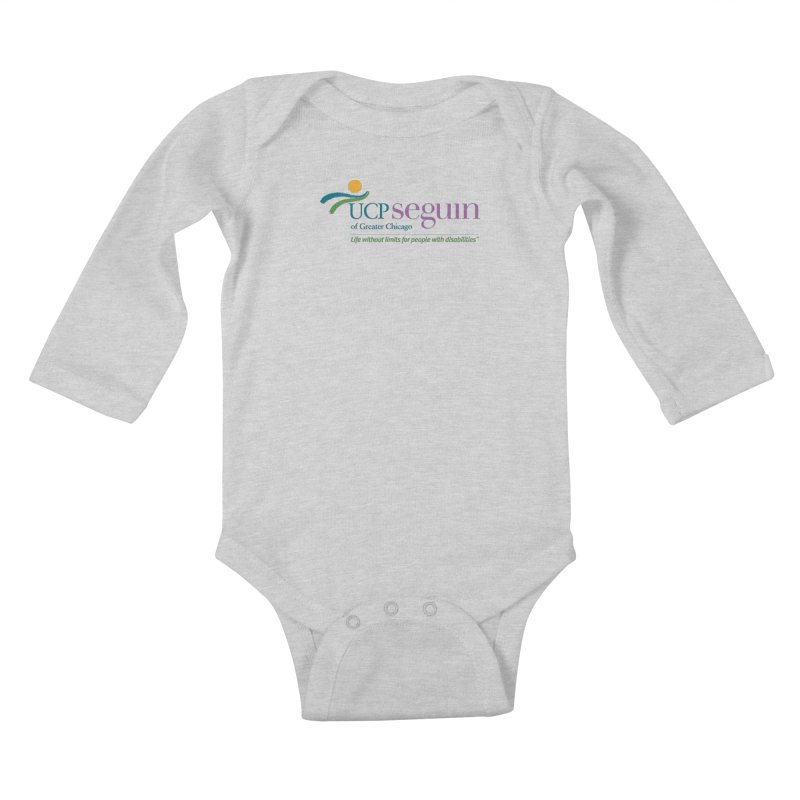 Apparel w/ Color Logo - Full Chest Kids Baby Longsleeve Bodysuit by UCP Seguin Swag Shop
