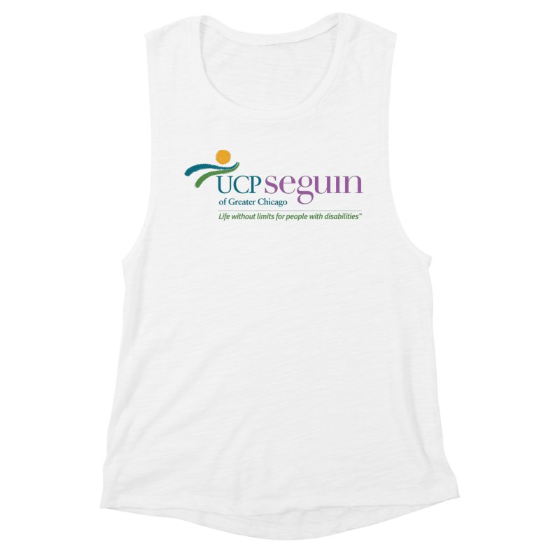 Apparel w/ Color Logo - Full Chest Women's Muscle Tank by UCP Seguin Swag Shop