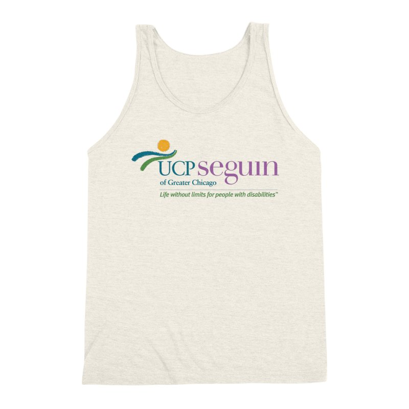 Apparel w/ Color Logo - Full Chest Men's Triblend Tank by UCP Seguin Swag Shop