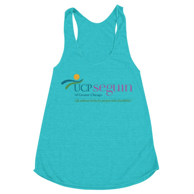 Apparel w/ Color Logo - Full Chest Women's Racerback Triblend Tank by UCP Seguin Swag Shop