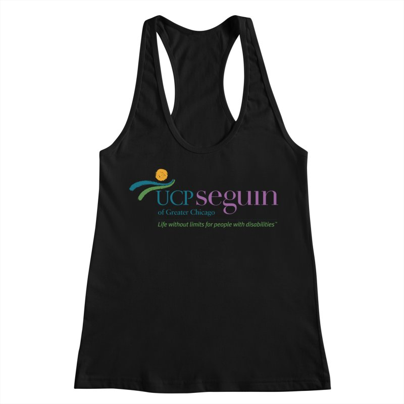 Apparel w/ Color Logo - Full Chest Women's Racerback Tank by UCP Seguin Swag Shop