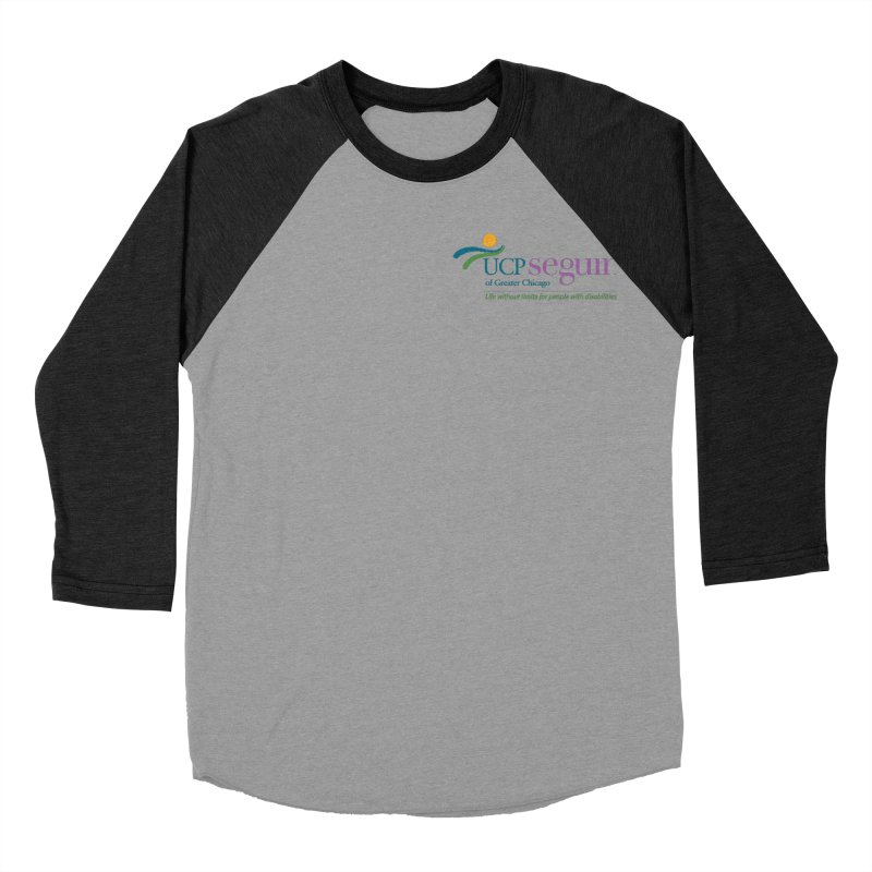 Apparel w/ Color Logo - Left Chest Women's Baseball Triblend Longsleeve T-Shirt by UCP Seguin Swag Shop