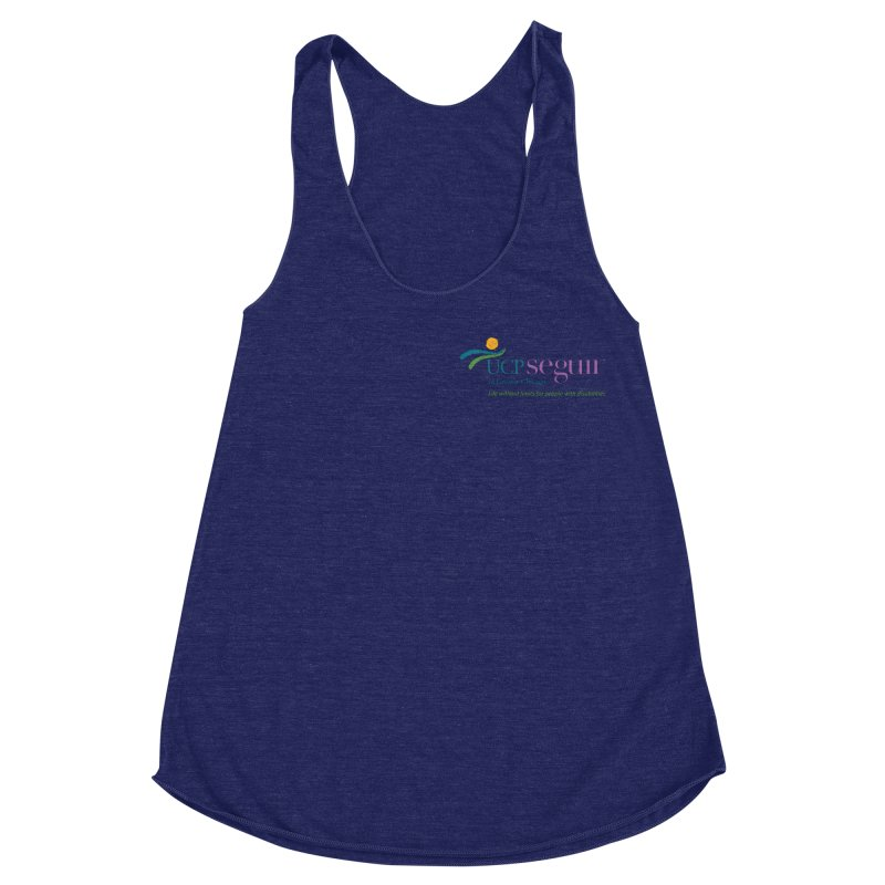 Apparel w/ Color Logo - Left Chest Women's Racerback Triblend Tank by UCP Seguin Swag Shop