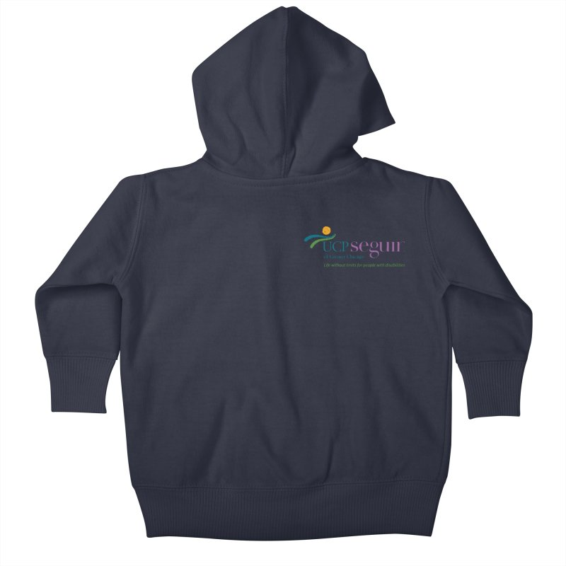 Apparel w/ Color Logo - Left Chest Kids Baby Zip-Up Hoody by UCP Seguin Swag Shop