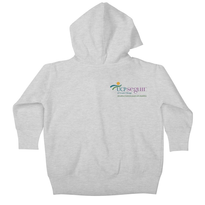 Apparel w/ Color Logo - Left Chest in Kids Baby Zip-Up Hoody Heather Grey by UCP Seguin Swag Shop
