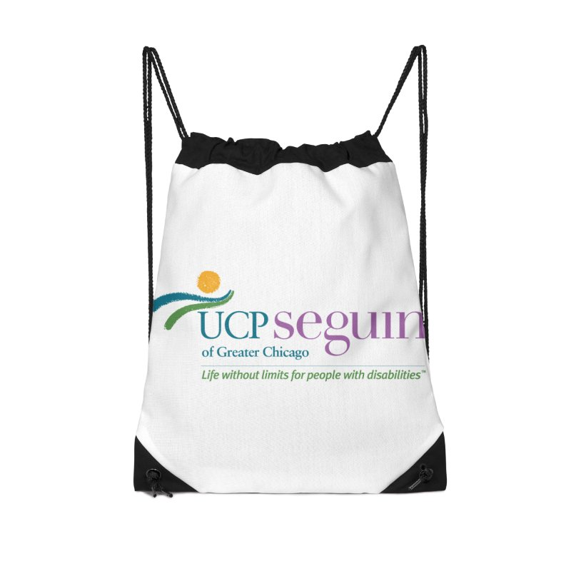 Accesories w/ Color Logo Accessories Drawstring Bag Bag by UCP Seguin Swag Shop