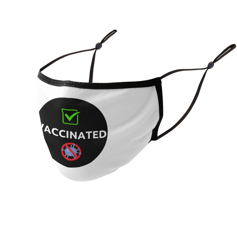 Vaccinated Accessories Face Mask by UCP Seguin Swag Shop