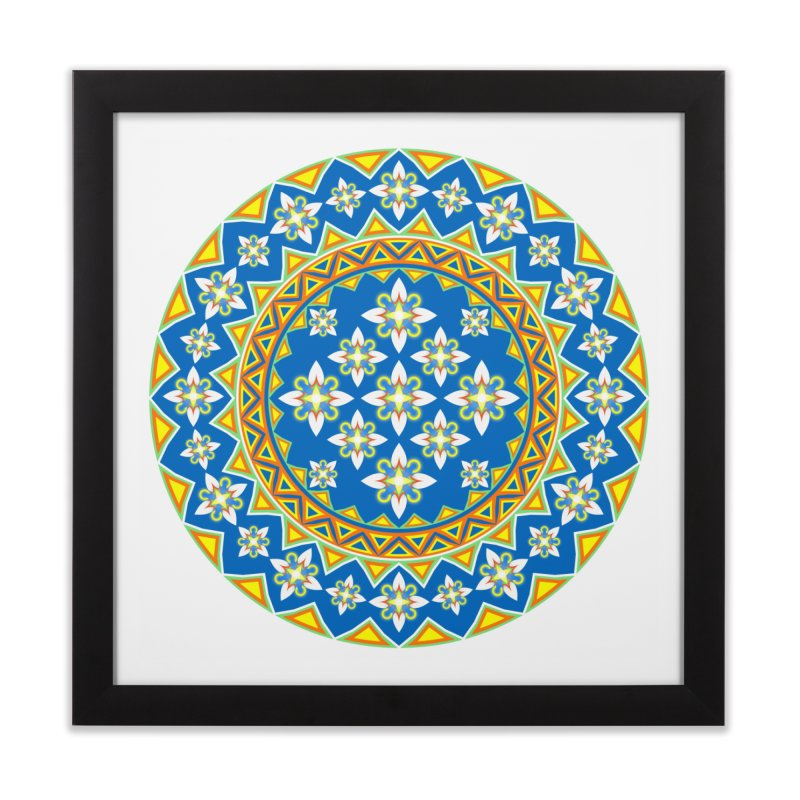 Space Flower Array Home Framed Fine Art Print by Universe Deep Inside
