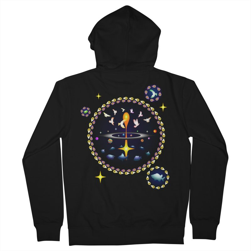 Universe of sky and sea Women's Zip-Up Hoody by Universe Deep Inside