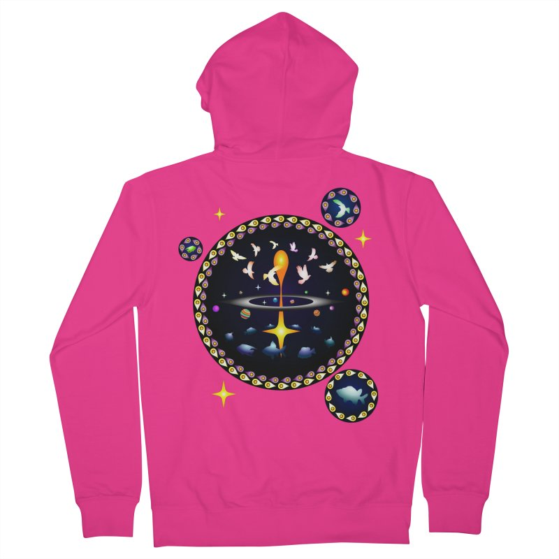 Universe of sky and sea Men's Zip-Up Hoody by Universe Deep Inside