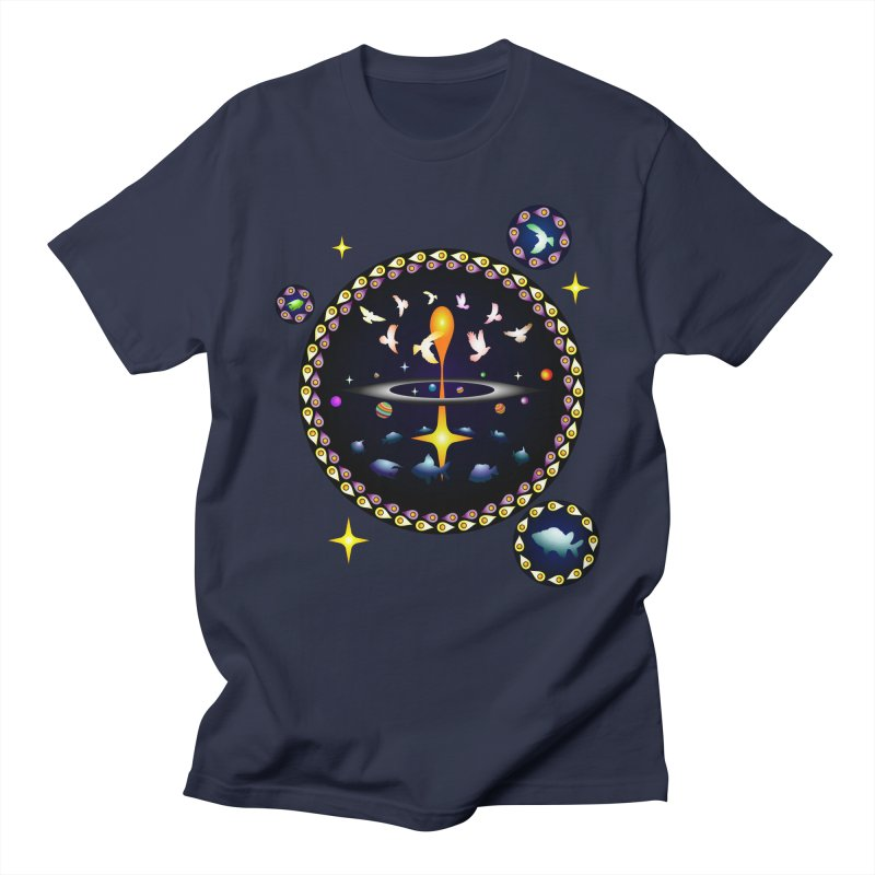 Universe of sky and sea Men's T-Shirt by Universe Deep Inside
