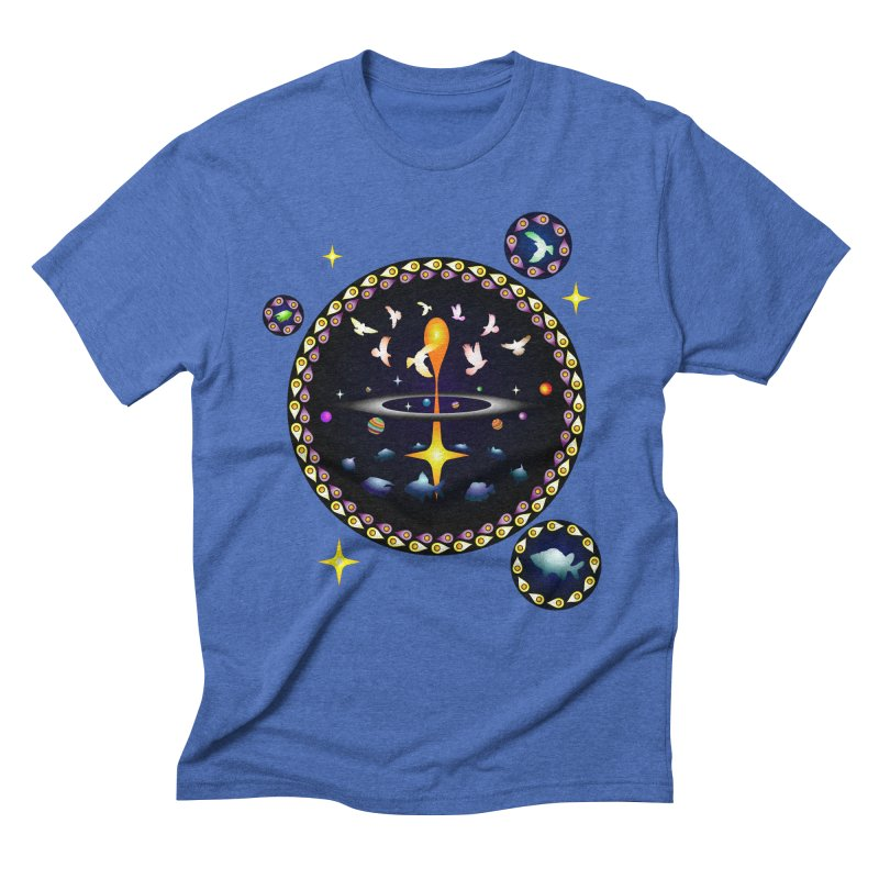 Universe of sky and sea Men's Triblend T-shirt by Universe Deep Inside