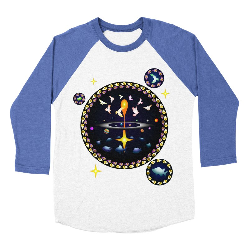 Universe of sky and sea Women's Baseball Triblend T-Shirt by Universe Deep Inside