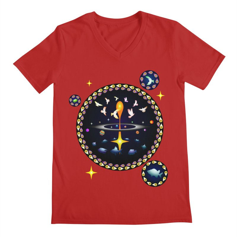 Universe of sky and sea Men's V-Neck by Universe Deep Inside