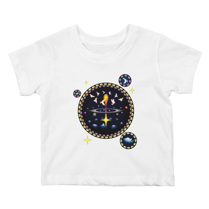 Universe of sky and sea Kids Baby T-Shirt by Universe Deep Inside