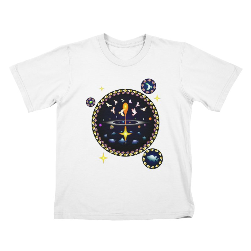 Universe of sky and sea Kids T-Shirt by Universe Deep Inside