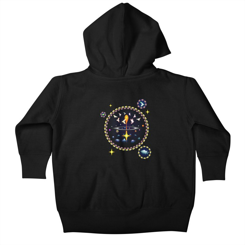 Universe of sky and sea Kids Baby Zip-Up Hoody by Universe Deep Inside