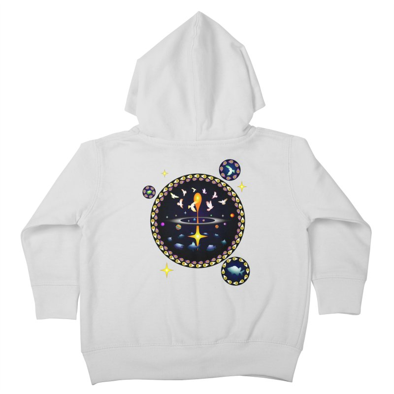 Universe of sky and sea Kids Toddler Zip-Up Hoody by Universe Deep Inside