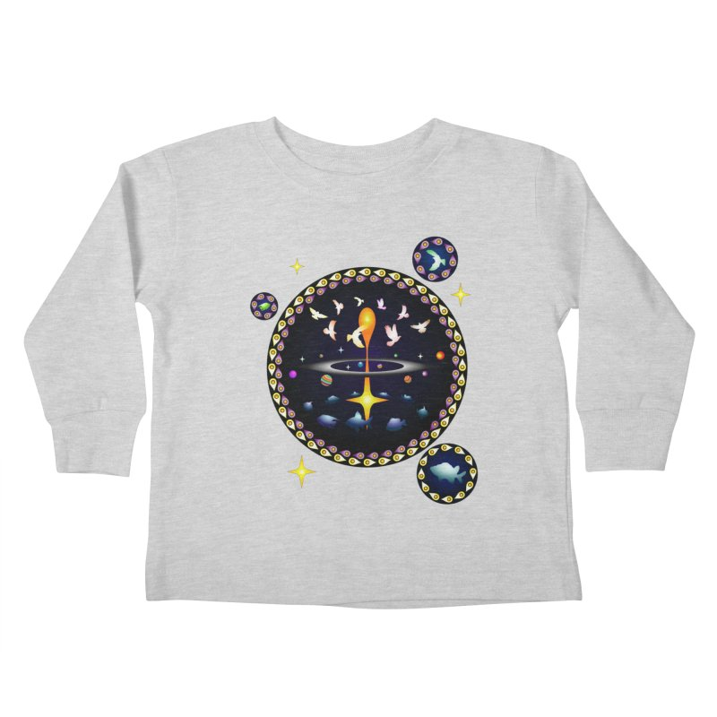 Universe of sky and sea Kids Toddler Longsleeve T-Shirt by Universe Deep Inside