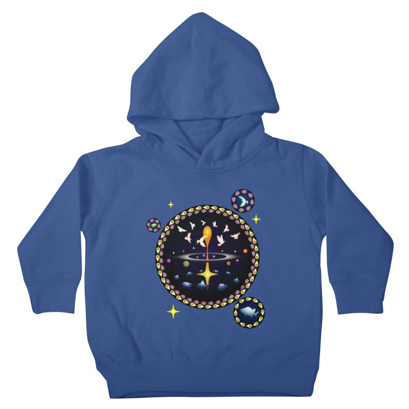 Universe of sky and sea Kids Toddler Pullover Hoody by Universe Deep Inside