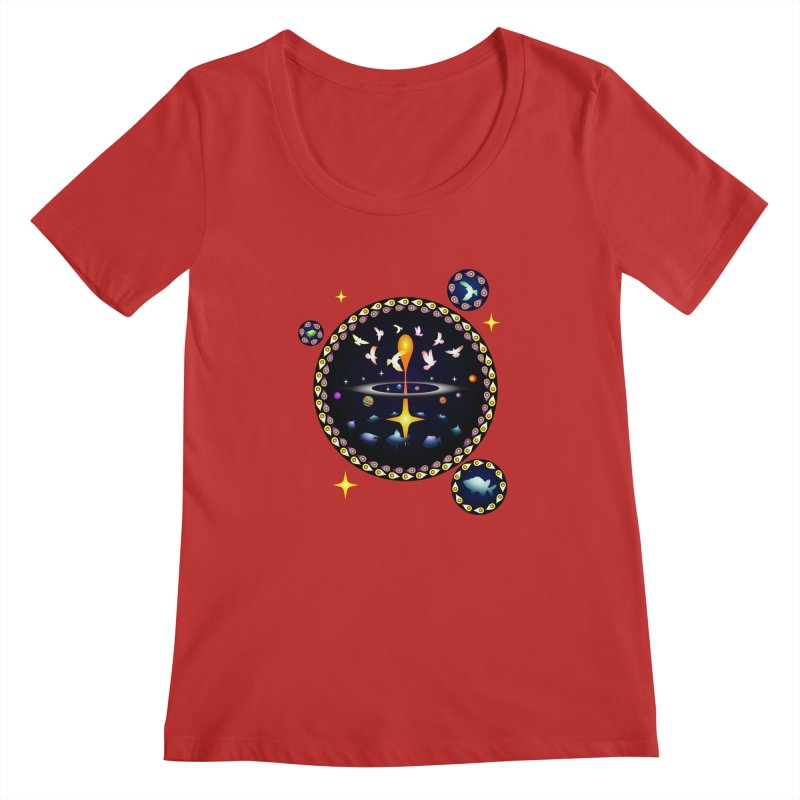 Universe of sky and sea Women's Scoopneck by Universe Deep Inside
