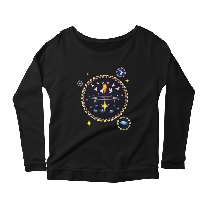 Universe of sky and sea Women's Longsleeve Scoopneck  by Universe Deep Inside