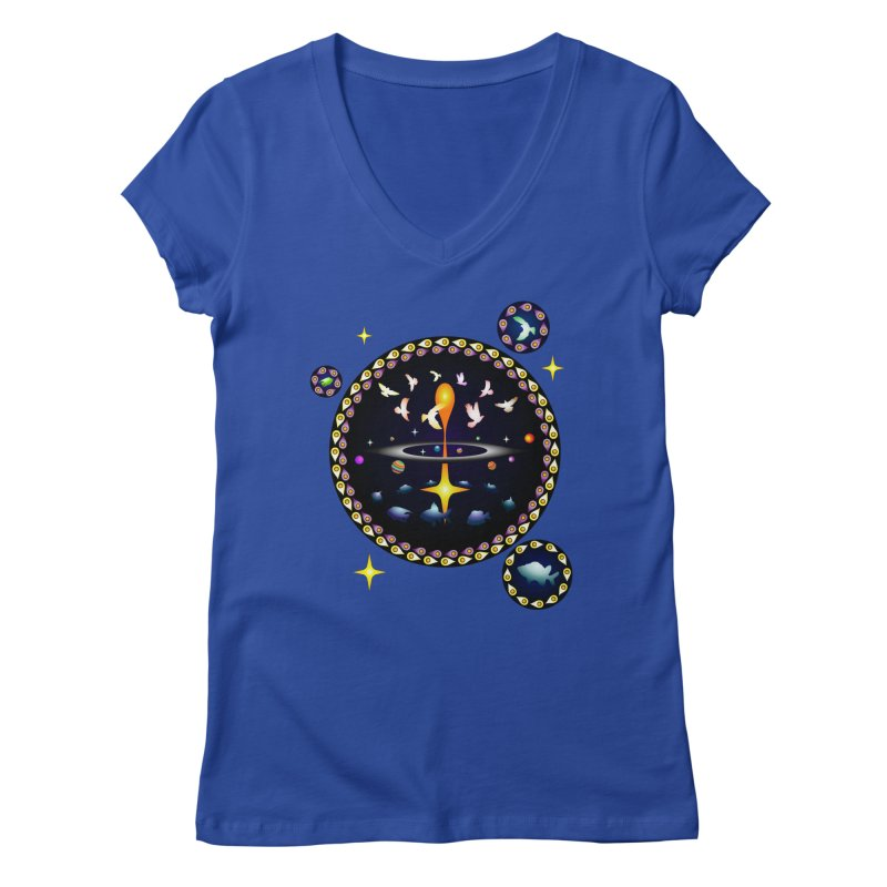 Universe of sky and sea Women's V-Neck by Universe Deep Inside